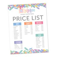Lularoe Price Chart Lularoe Disney Price List Wholesale