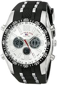 amazon com u s polo assn sport men s us9061 watch black u s polo assn sport men s us9061 watch black rubber strap watch