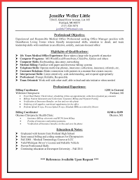 Billing Coordinator Resume Memo Example Medical Office Manager