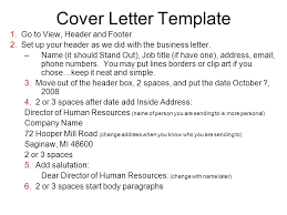 Setting Up A Business Letter Warm Up 10 8 08 Open All The Example Cover Letters In The Public L