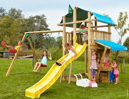 swing and slide set fort mini market 2 swing yellow