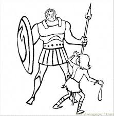 41 David And Goliath Coloring Page King David Coloring Pages