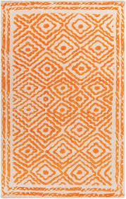 lacefield for surya ats 1003 orange wool rug