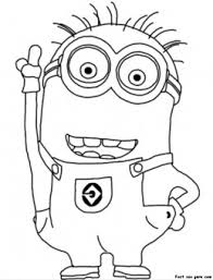 Small Picture Printable Disney Two Eyed Minion Despicable Me 2 Coloring Pages