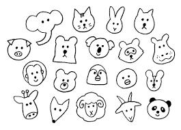 シンプル動物アイコンイラスト No 720742無料イラストなら
