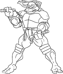 Small Picture Teenage Mutant Ninja Turtles Coloring Pages Michelangelo