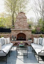 beautiful patio with fireplace morgan harrison home