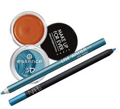 essence cosmetics pers mart make up for ever aqua cream in orange and turquoise 28 each