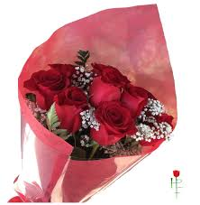 Red Paper Flower Hand Bouquet Of Red Roses In Los Angeles Ca Highland Park Florist