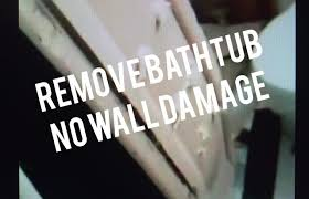 how to remove steel bathtub without destroying bathroom walls easy noisy