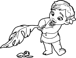Toddler Moana Coloring Page Wecoloringpagecom