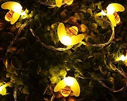 string lights goodia battery operated string lights 40 led bee shape string lights for garden patio lawn decoration warm white offers