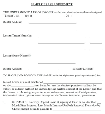 Blank Lease Agreement Template Image 2 Rental Agreements – Onbo Tenan