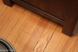how to remove scratches from dark wood floors