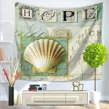 green throw rug eastern sea shell hope love letters green check tapestry beach picnic throw rug