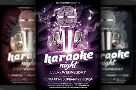 Karaoke Night Flyer Template Karaoke Night Flyer Template Flyer Templates Creative Market 5