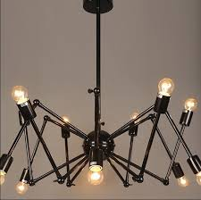 retractable lighting. Retractable Lighting Fixtures. Modern Fashion Pendant Light Inspiration Spider Concept Little Bulbs Black Color