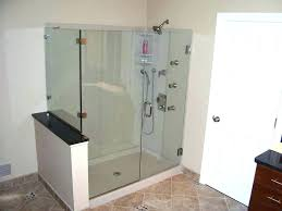 shower door half wall glass enclosure awe village company of south mi doors shower door half wall
