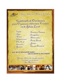 Plan De Trabajo 2012 De La Iglesia Cristiana Paz Con Dios