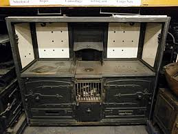 0061036 nice victorian double oven cast iron kitchen range h 166cm x 189 x 65 cad