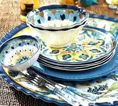 melamine outdoor dinnerware set of 4 blue sets uk dinnerwa