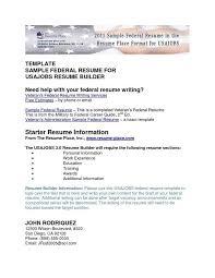 Usajobs Resume Builder] Federal Resume Sample And Format The throughout Usajobs  Resume Builder 21778