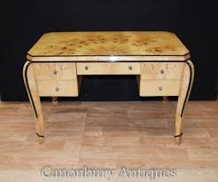 art deco office furniture. art deco desk writing table bureau blonde walnut office furniture
