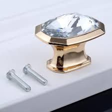 513937mm Diamond Crystal Glass Knobs Furniture Handles Cabinet