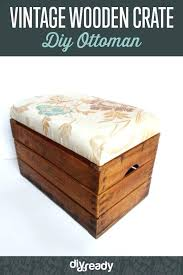 diy storage ottomans build a wooden