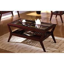 dark wood coffee tables with glass top home decor 650 650