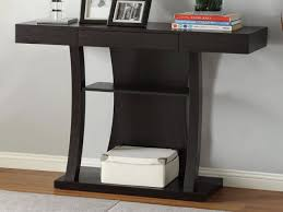 Image of: Modern Entryway Table Black