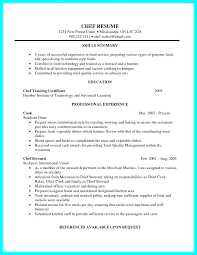 Culinary Resume Samples Chef Resume Chef Resume Template Lovely ...