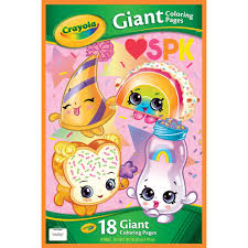 601.50 kb, 2048 x 2048 Crayola Shopkins Giant Coloring Pages Gift For Kids 18 Pages Walmart Com Walmart Com