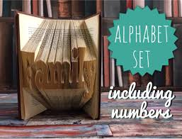 free book folding letter patterns