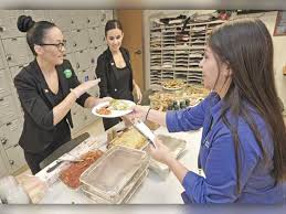 olive garden italian restaurant service service professionals katy neville left kari may serve salad