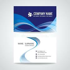 Product Line Card Template Download Business Card Template Abstract Blue Wave Design Stock