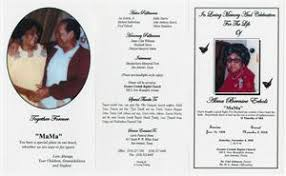 Funeral Program for Alma Bernice Echols, November 8, 2008] - Page ...