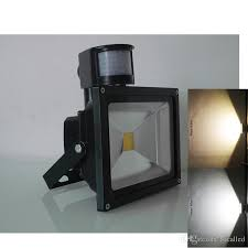 10w 20w 30w 50w pir motion sensor flood light security ac dc 12 v led outdoor lighting luminous flux sensor lights led lamps