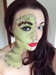 frankenstein half face beauty horror facepaint makeup