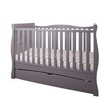 details about new baby grey sleigh mason cot bed with drawer optional mattress 140x70x10cm