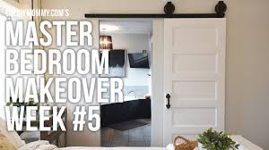 Master Bedroom Makeover Week 5 Barn Door Installation One Barn Door For Bedroom