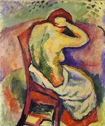 georges braque woman sitting back 1907 oil on canvas 55 x