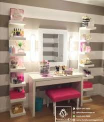 meja mua makeup artist set rak dinding