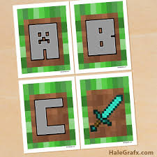 Free Printable Minecraft Alphabet Banner