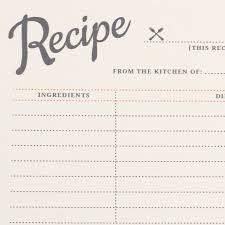 Recipe Cards Print Vintage Recipe Cards Printable By Basic Invite