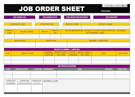 Job Order Sheet