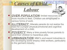 child labour project  7 causes of child labour
