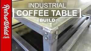 Diy Industrial Coffee Table Industrial Coffee Table Build Youtube
