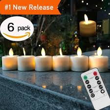 Remote Control Pack Of 6 Warm White Led Flameless Candles Battery Operated Dancing Flame Household Tea Light Q190529 Pure Beeswax Candles Purple
