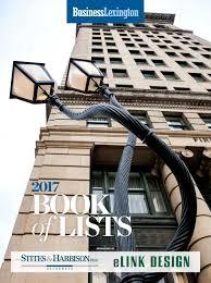 Elink Design Lexington Ky Business Lexington Book Of Lists 2017 By Smiley Pete